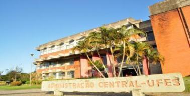 Fachada do prédio da Administração Central da Ufes