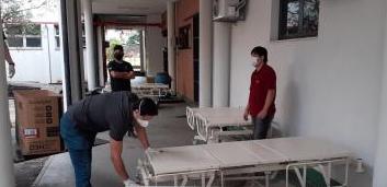 Leitos consertados pela Ufes, Ifes e Senai
