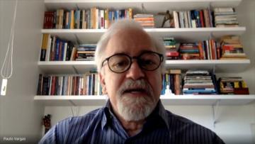 Reitor da Ufes, Paulo Vargas, durante a live de boas vindas ao semestre especial 2020