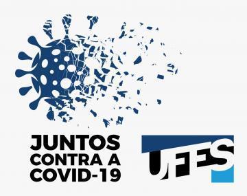 Imagem do Coronavírus e os escritos: Juntos contra a Covid-19 - Ufes