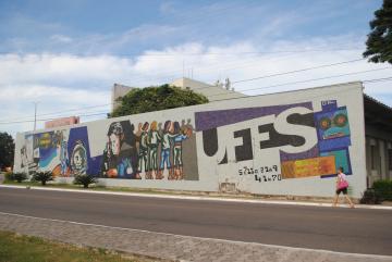 Mural da Ufes, no campus de Goiabeiras