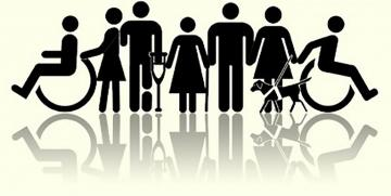 Símbolo que representa diversos tipos de deficiência
